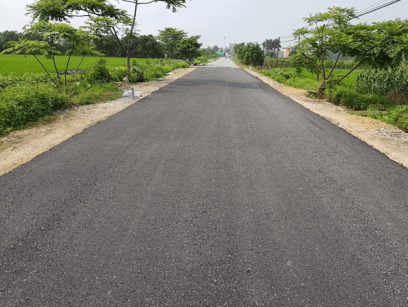 đường bê tông nhựa trong thiết kế farmstay