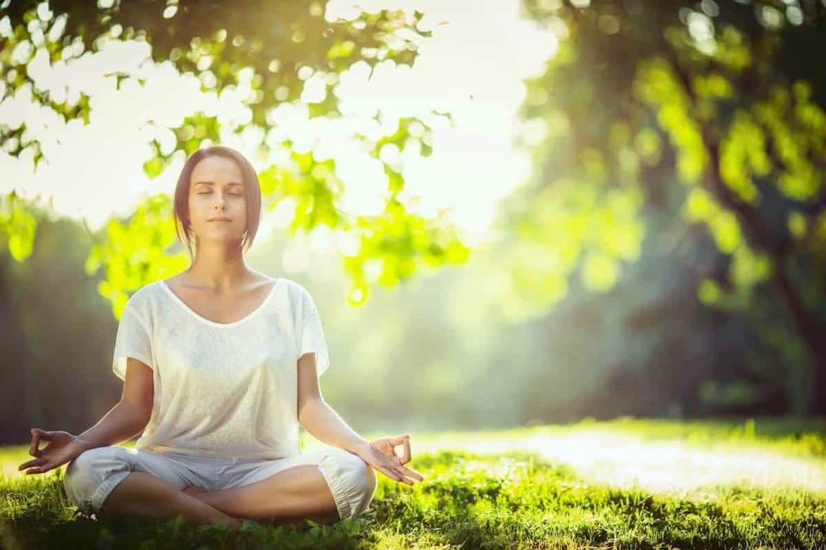 Khu vực tập yoga của farmstay